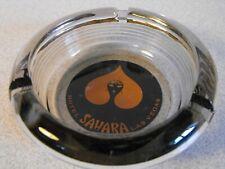 New ListingVintage Las Vegas Casino Hotel Ashtray ~ Sahara ~ Round Smoke Gray Glass