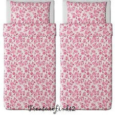 2 sets Ikea Duvet Quilt  Cover w/ pillowcase Emelina Ros Shabby Floral Twin