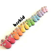 New Arrival Blythe Pullip Lati Yellow BJD 7 pairs Doll Shoes T-Strap Rainbow