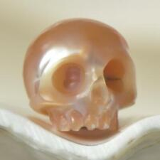 9.10 mm Human Skull Bead Carving Natural Bronze Freshwater Pearl 0.89 g drilled