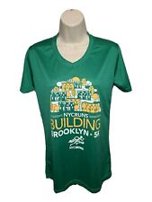 NYC Runs Brooklyn Building 5K Womens Small Green Jersey