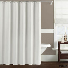 LUXURY WHITE SHOWER CURTAIN 2.6m x 2m TOP QUALITY RRP £35 NEW