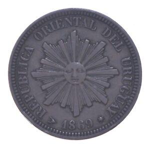 Better - 1869 Uruguay 2 Centesimos *321