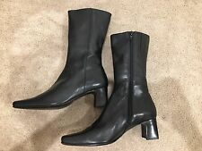 Black Leather Joanne Mercer Boots