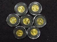 1/10 Oz Monarch Metals Gold CRANR Round IN CAP (1 COIN)