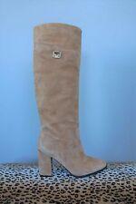 DIANE VON FURSTENBERG DVF Yvonne Knee High Honey Suede Boots - Size 8.5