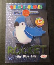 Ty Beanie Babies Series Ii S2 ~ Green ~ Birthday Bboc Card 270 Rocket Blue Jay