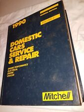 1990 MITCHELL DOMESTIC CARS ENGINE,CHASSIS SERVICE,REPAIR BOOK,GENERAL MOTORS,V2