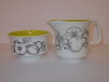 Crown Devon Fieldings Milk Jug and Sugar Bowl Fruit Design Lovely