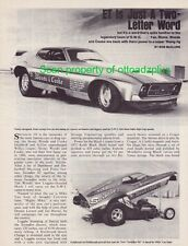 1972 Ford Mustang Mach 1 - Stone-Woods&Cooke - Swindler III - Funny Car article