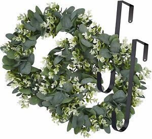 2pcs x Eucalyptus Wreath Artificial Wreath for Wall Door with Green Leaves