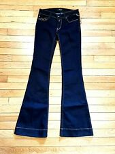 REPLAY Dark Blue Denim TEENA Women's Flare Jeans Trousers XS W26 / L32 in
