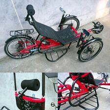 Tricycle couché avec amortisseur, toit, porte bagage arrière et latéraux