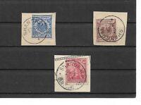 DAP, CHINA, 1886 - 1901, Einzelmarken aus MiNrn: V 37 - V 50, P V o, gestempelt