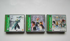 Playstation 1 Final Fantasy Lot of 3 Games 7 8 9 VII VIII IX PS1 PS2 PS3 RPG