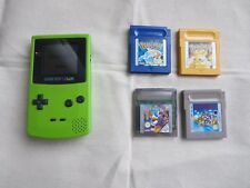 NINTENDO GAME BOY COLOR Green with four games