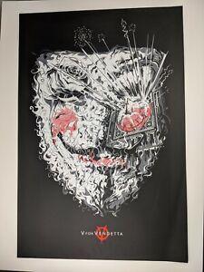V For Vendetta Cesar Moreno Mondo Poster Print Art Mondo Classic