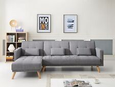 Sacha X-Large Luxury Modern 3/4 Seater Recliner Fabric Sofabed Sofa bed Settee