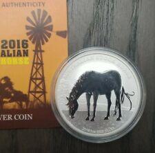 2016 Australia Stock Horse 1 Troy Ounce of .999 Silver $1 COA Ltd Ed. of 9,000
