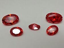 CZ Oval Orange 6x8mm 7x9mm 8x10mm 12x8mm Loose AAA Cubic Zirconia Gemstone