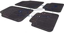 4 Piece Heavy Duty Black Rubber Car Mat Set Non Slip CHEVROLET LACETTI 2003>