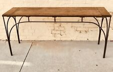 Rustic Maple Table with HandCrafted Curved Steel Legs Custom Crafted By PJ