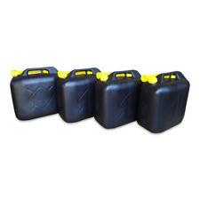 4 x 20 L Kraftstoffkanister Benzin Reserve Kanister Tank UN-Zulassung schwarz