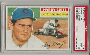1956 TOPPS #179 HARRY CHITI, PSA 9 MINT, GRAY BK, HIGHEST GRADED, NONE HIGHER