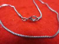 9.5 INCH 14KT WHITE GOLD EP 1MM BOX CHAIN  ANKLET