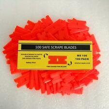 """100 Pieces 1.5"""" Plastic Edge Blades"""