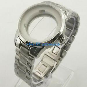 39mm steel watch case Fit ETA 2836,Miyota 8215,821A,8205 automatic movement
