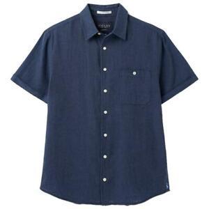 Joules Breaker Linen Shirt - French Navy - RRP £39.95