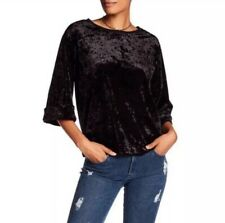 Supplies Union Bay Brown Luna Crew Neck Crushed Velvet Blouse Top 2X