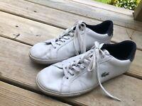 Men's Shoe Lacoste Sport Fashion Sneaker Graduate Vulc Sl  WHITE  / NAVY Size 11