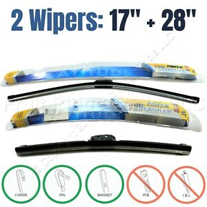 "PAIR Rain-X 17""+28"" Premium Latitude All-Weather Front Windshield Wiper Blades"