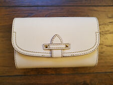 "FRYE ""CASEY"" WHITE LEATHER PURSE CROSSBODY WALLET W/ SLEEPER BAG - GREAT GIFT!"