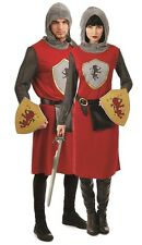 Couples Adults Mens & Ladies Kings Knight Medieval Fancy Dress Costumes Outfits