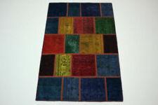 Moderne Wohnraum-Teppiche aus 100% Wolle mit Patchwork-Muster
