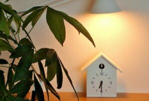 MUJI Cuckoo Clock Large Size White Light Sensor Simple from JAPAN