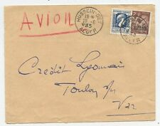 LETTRE ENVELOPPE / AIR MAIL PAR AVION / ALGERIE ALGER / TOULON 1945
