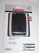 Hama 104507 Silicon Black Cover Apple iPhone 3G 3GS + display Protector + cloth