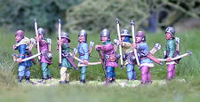 28mm Late Medieval Longbowmen. Agincourt, 100 years War, unpainted, historical