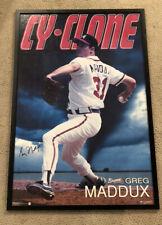 Greg Maddux Autographed Signed Poster Atlanta Braves HOF Pitcher Rare