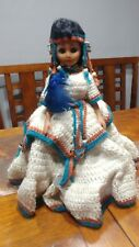Vintage A&H Indian Princess Doll W/Knitted Dress
