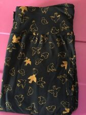 LuLaRoe OS Leggings. Navy Blue With Gold Turtle Doves. Super Soft. New