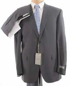 Canali NWT Suit Size 42R In Light Gray Pinstripe Wool Suit Impeccable $2,095