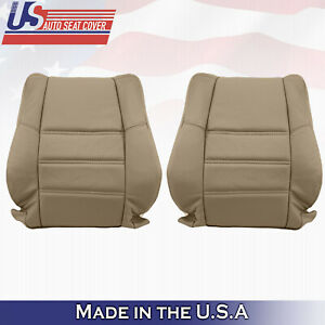 Lean Back Perforated Leather Seat Cover Tan For Nissan Pathfinder 2001 to 2004