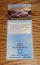 Original 2002 Oldsmobile Silhouette Foldout Sales Brochure 02