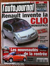 L'AUTO-JOURNAL du 9/2002; Clio Monospace/ Opel Mèriva/ Citroën Pluriel/ Scènic