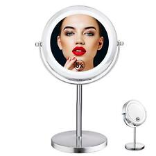 Double Sided Lighted Mirror - 7in LED Makeup Mirror With Lights,1x/5x Magnifying